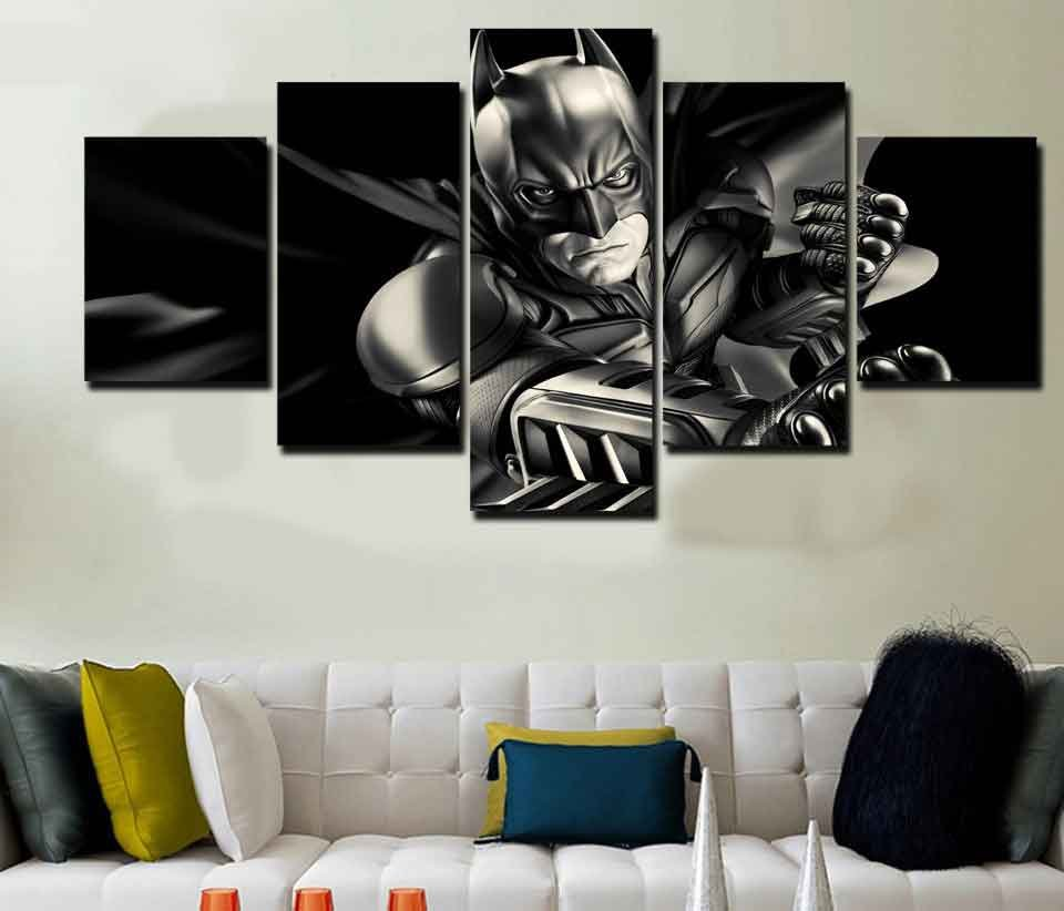 Batman Dark Knight #02 5 pcs Unframed Canvas Print - Large Size