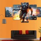 Battlefield #01 5 pcs Unframed Canvas Print - Large Size