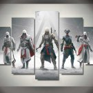 Assassin's Creed #01 5 pcs Framed Canvas Print - Small Size
