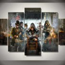 Assassin's Creed Syndicate #02 5 pcs Framed Canvas Print - Medium Size