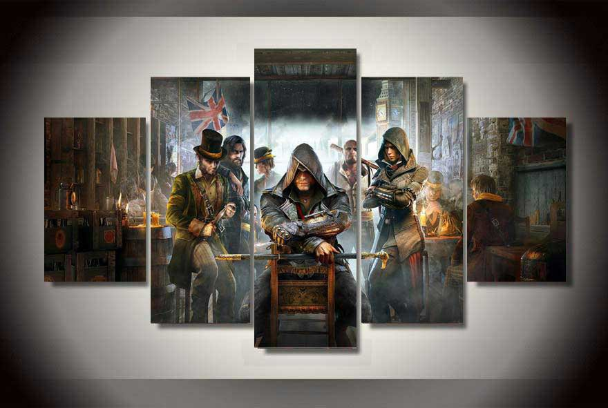 Assassin's Creed Syndicate #02 5 pcs Framed Canvas Print - Large Size