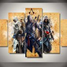 Assassin's Creed #06 5 pcs Framed Canvas Print - Medium Size