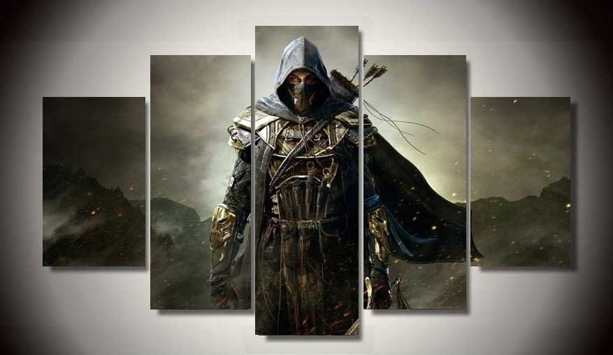 Assassin's Creed #12 5 pcs Framed Canvas Print - Small Size