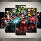 Marvel Avengers Superhero Comics #06 5 pcs Framed Canvas Print - Medium Size