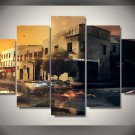 DeLorean Time Machine Back to the Future 5 pcs Framed Canvas Print - Large Size