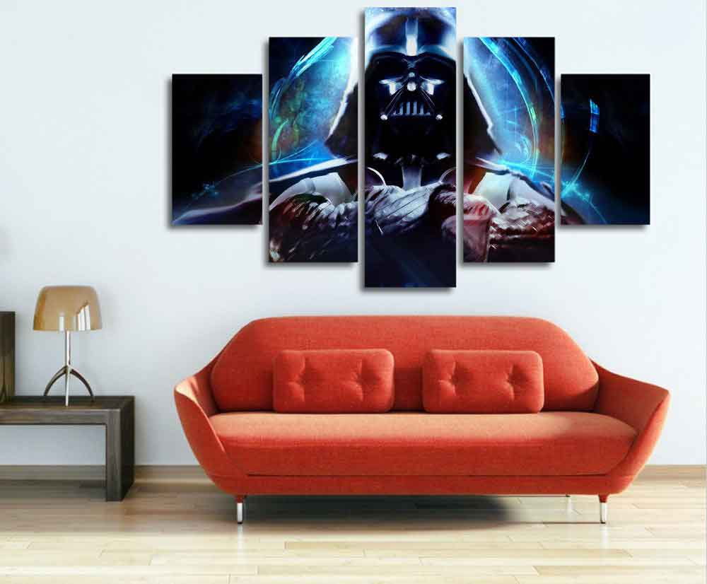 Darth Vader Star Wars #01 5 pcs Framed Canvas Print - Large Size