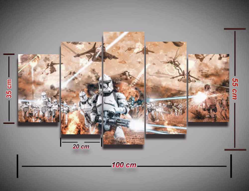 Star Wars Battlefront #08 5 pcs Framed Canvas Print - Medium Size