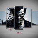 The Joker Batman Arkham #05 5 pcs Framed Canvas Print - Small Size