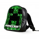 #23 Minecraft Creeper Kids Multi-Pocket School Bag Backpack