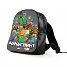 #25 Minecraft Creeper Kids Multi-Pocket School Bag Backpack
