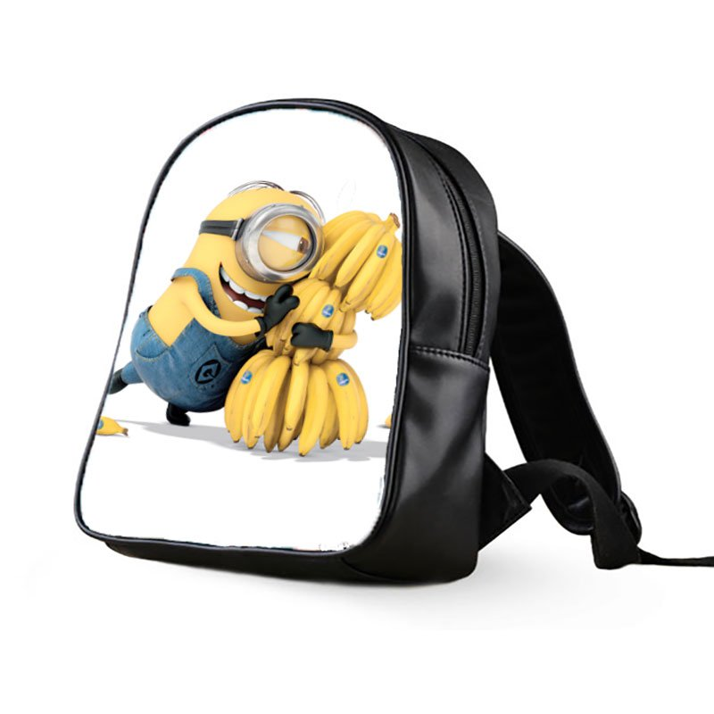 #02 Minions Despicable Me Kids Multi-Pocket School Bag Backpack