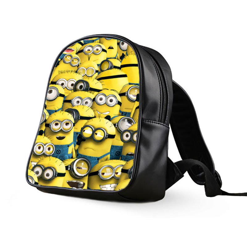 #03 Minions Despicable Me Kids Multi-Pocket School Bag Backpack