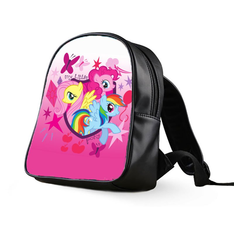 #04 My Little Pony Kids Multi-Pocket School Bag Backpack