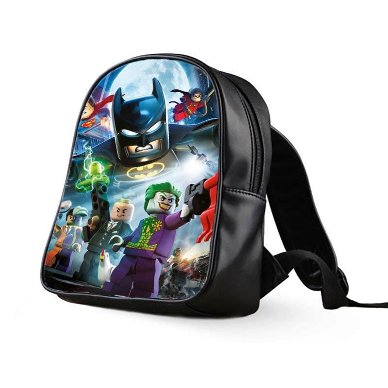 #02 Lego Batman Kids Multi-Pocket School Bag Backpack