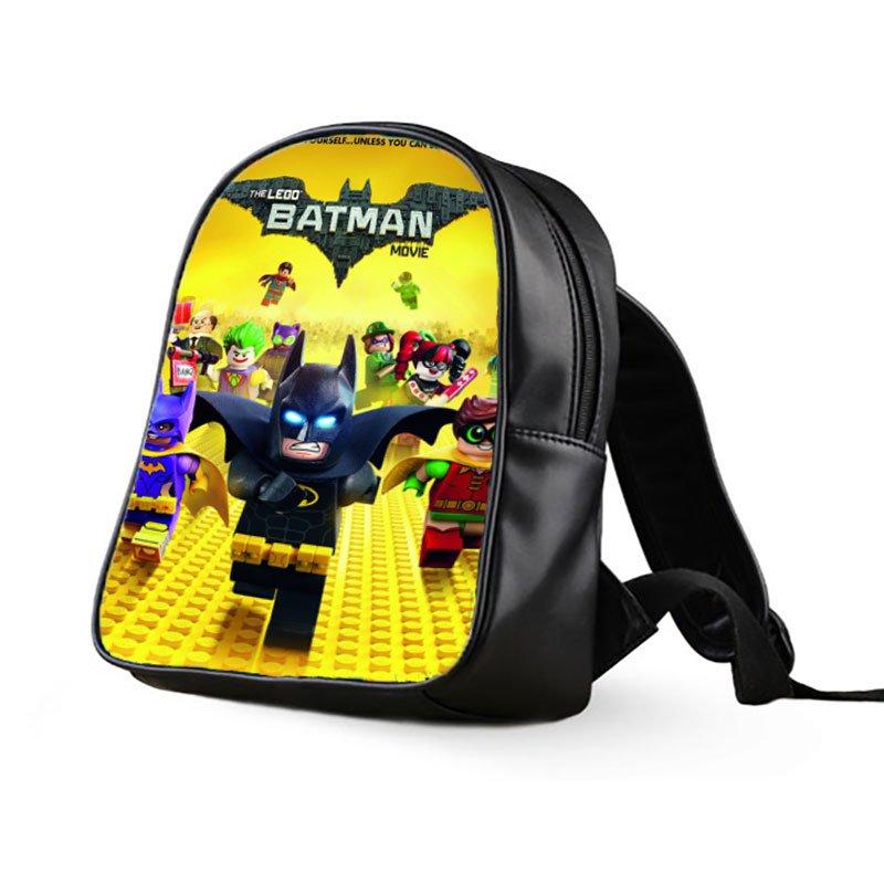 #03 Lego Batman Kids Multi-Pocket School Bag Backpack