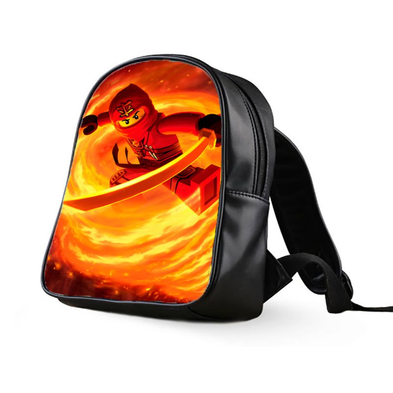#04 Kai Lego Ninjago Kids Multi-Pocket School Bag Backpack