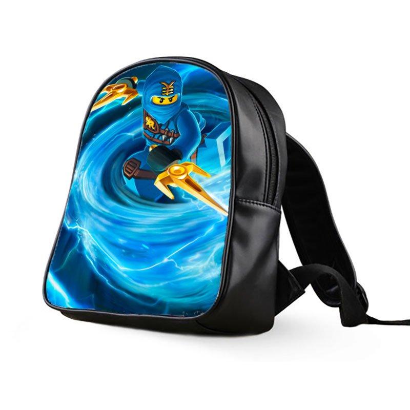 #05 Jay Walker Lego Ninjago Kids Multi-Pocket School Bag Backpack