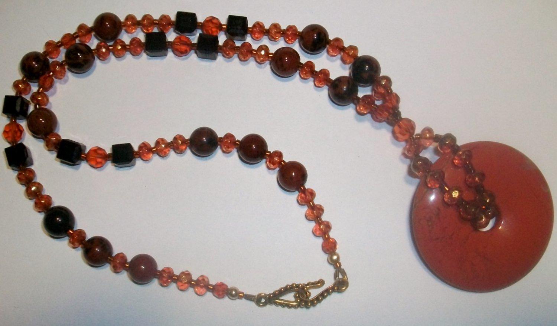 Red Jasper Donut Necklace