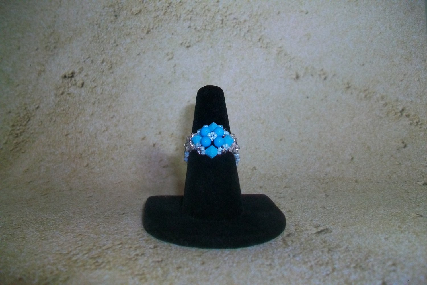 Ring Turquoise Beaded