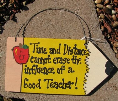 Teacher Gifts Wood Pencil 20 Time & Distance