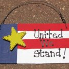 Wood Patriotic Sign 10977UWS - United We Stand