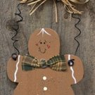 D0035CWC - Gingerbread Man Ornament wood