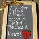 Teacher Gifts 5033 A Teacher Takes a Hand Slate