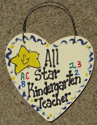 Teacher Gifts 5001 All Star Kindergarten Teacher Wood Star Hand Painted