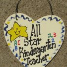 Teacher Gifts 5001 All Star Kindergarten Teacher Wood Star Hand Painted