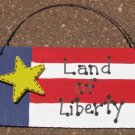 10977LOL - Land of Liberty Wood Sign