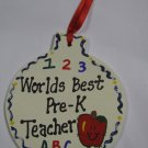 Teacher Gifts 9017 PK Worlds Best Pre-K Ornament