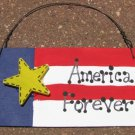 10977AF - America Forever Wood Patriotic Sign