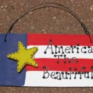 10977AB - America the Beautiful Wood Sign