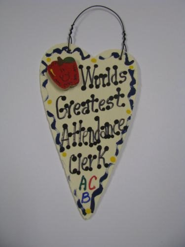 Teacher Gifts Worlds 3021 Greatest Attendance Clerk