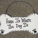 DB3- Home Is Where the Dog Is Wood Dog Bone