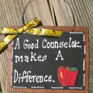 Teacher GIfts 43 Counselor Hand Painted Wooden Teacher Slate