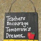 Teacher Gift 5207 Teachers Encourage Tomorrow's Dreams with Ruler/Apple