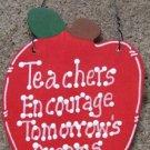 Teacher Gifts Wood Apple Teachers Encourage Tomorrow's Dreams