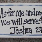 B4011- As for me and my house Scripture Wood Block