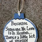 9015H Little Bit of Heaven Ornament Christmas Wood