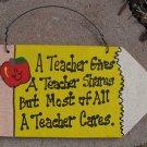 Teacher Gifts 30P A Teacher Cares Wooden Pencils Hand Painted