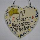 Teacher Gifts 5022 All Star Resource Teacher Handmade Wood Heart