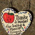 Teacher Gifts 6025 Thanks a Bushel Special Science Teacher Wood Heart