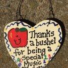 Teacher Gifts 6017 Thanks a Bushel Special Music Teacher Wood Heart
