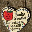 Teacher Gifts 6011 Thanks a Bushel Special Nurse Wood Heart