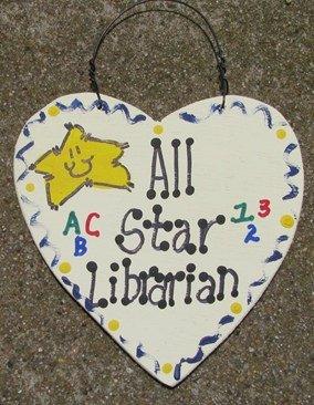 Teacher Gifts 5013 All Star Librarian Handmade