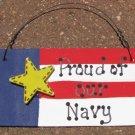 Wood Patriotic Sign 10977N- Proud of our Navy