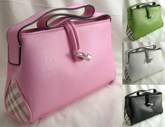 Small Squared Handbag With Toggle Closure
