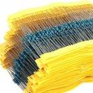 300Pcs 10 -1M Ohm 1/4w Resistance 1% Metal Film Resistor Resistance Assortment Kit Set 30 Kinds