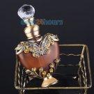 5ml Vintage Heart Shape Empty Refillable Metal Glass Perfume Bottle Stopper Gift